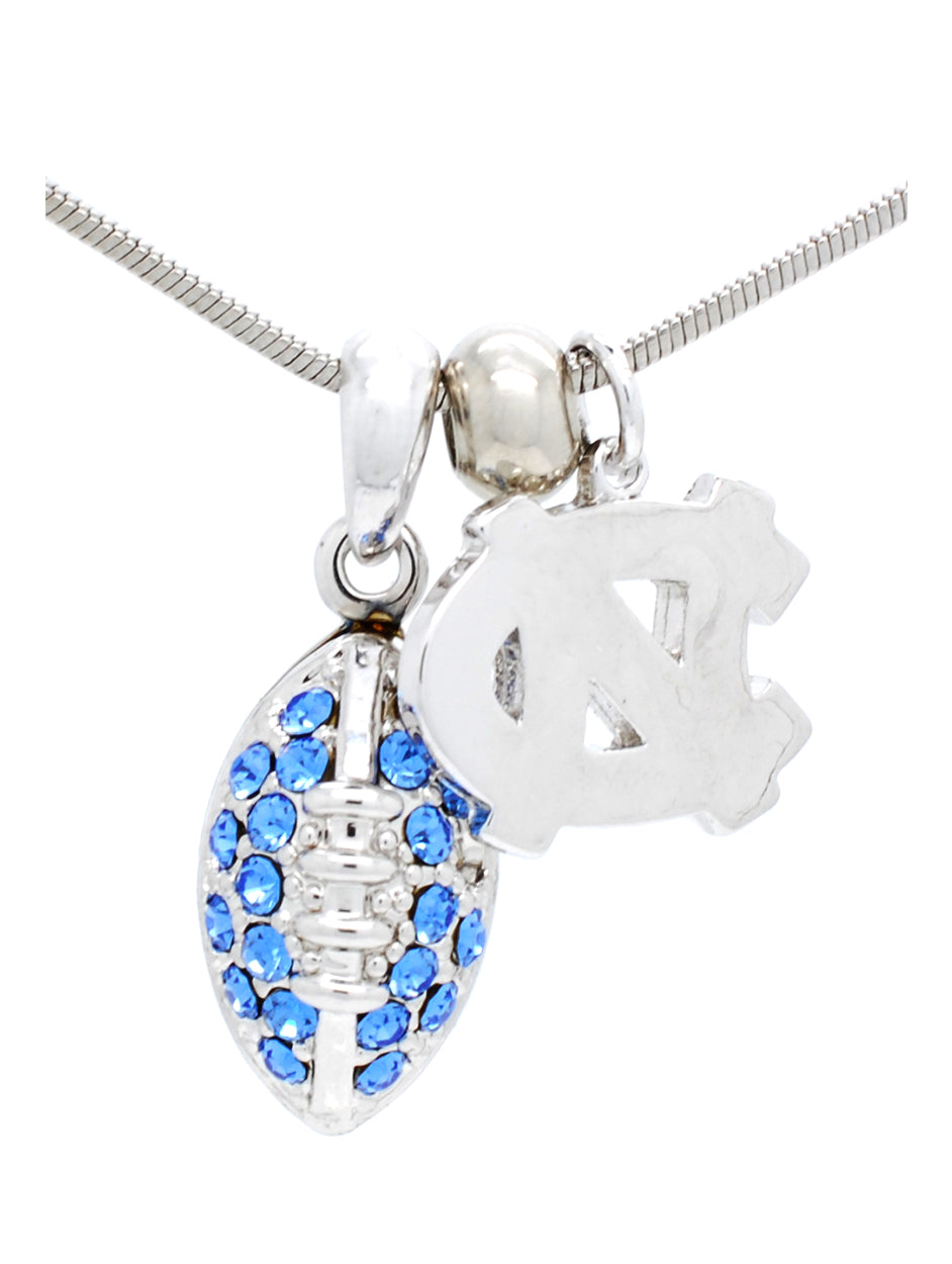 North Carolina Mini Football Necklace