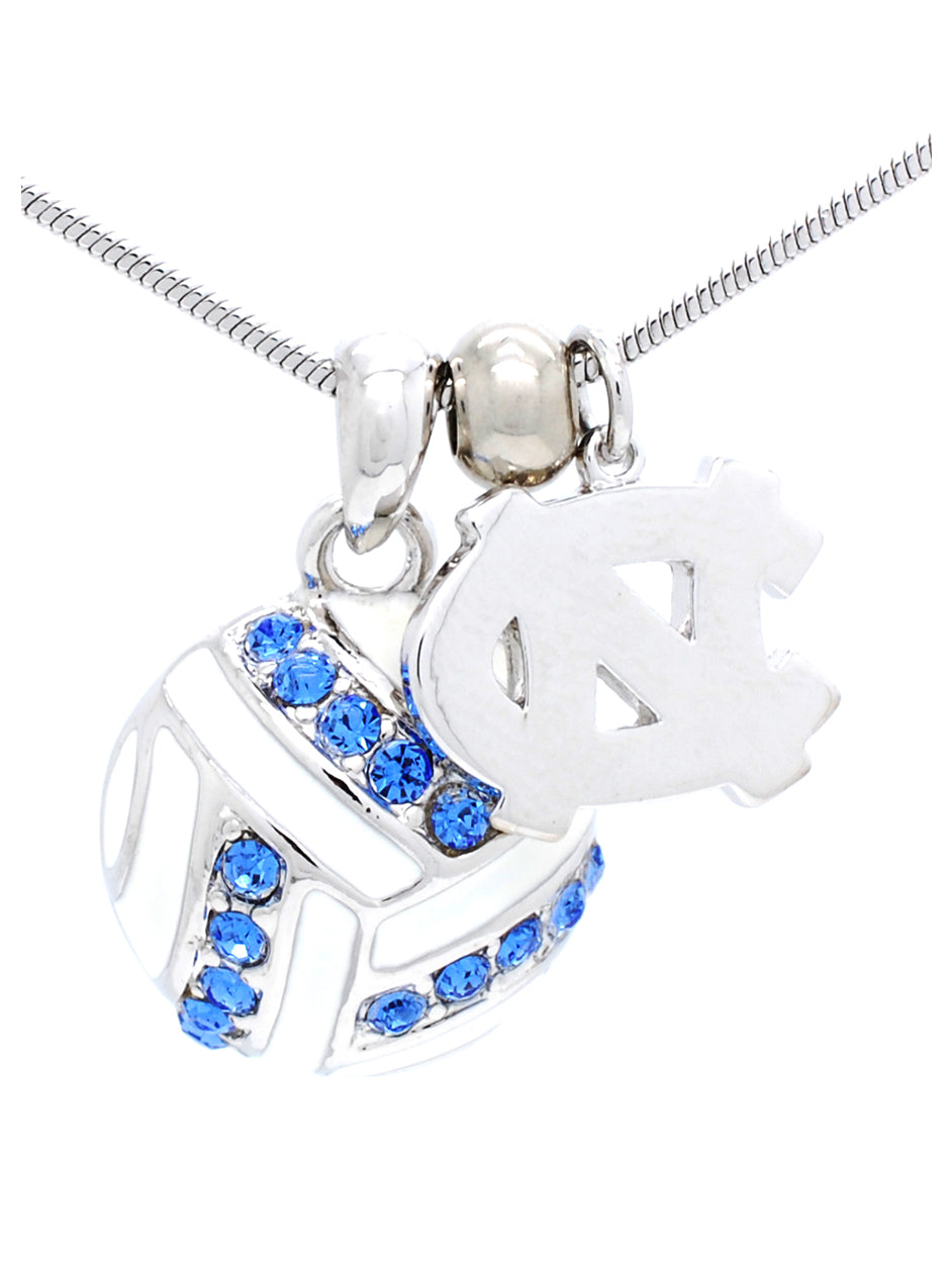 North Carolina Volleyball Necklace
