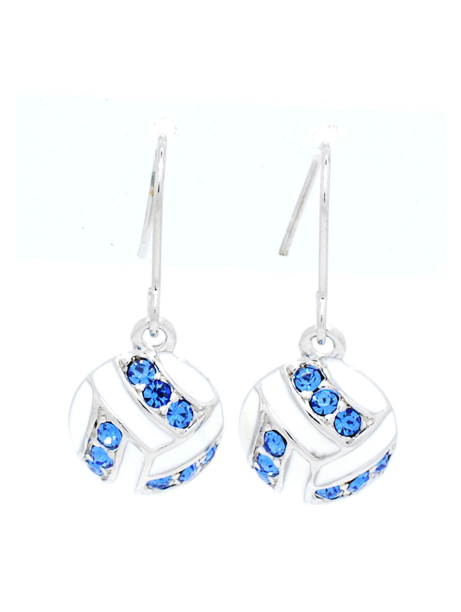 Volleyball Earrings DANGLE - Carolina Blue