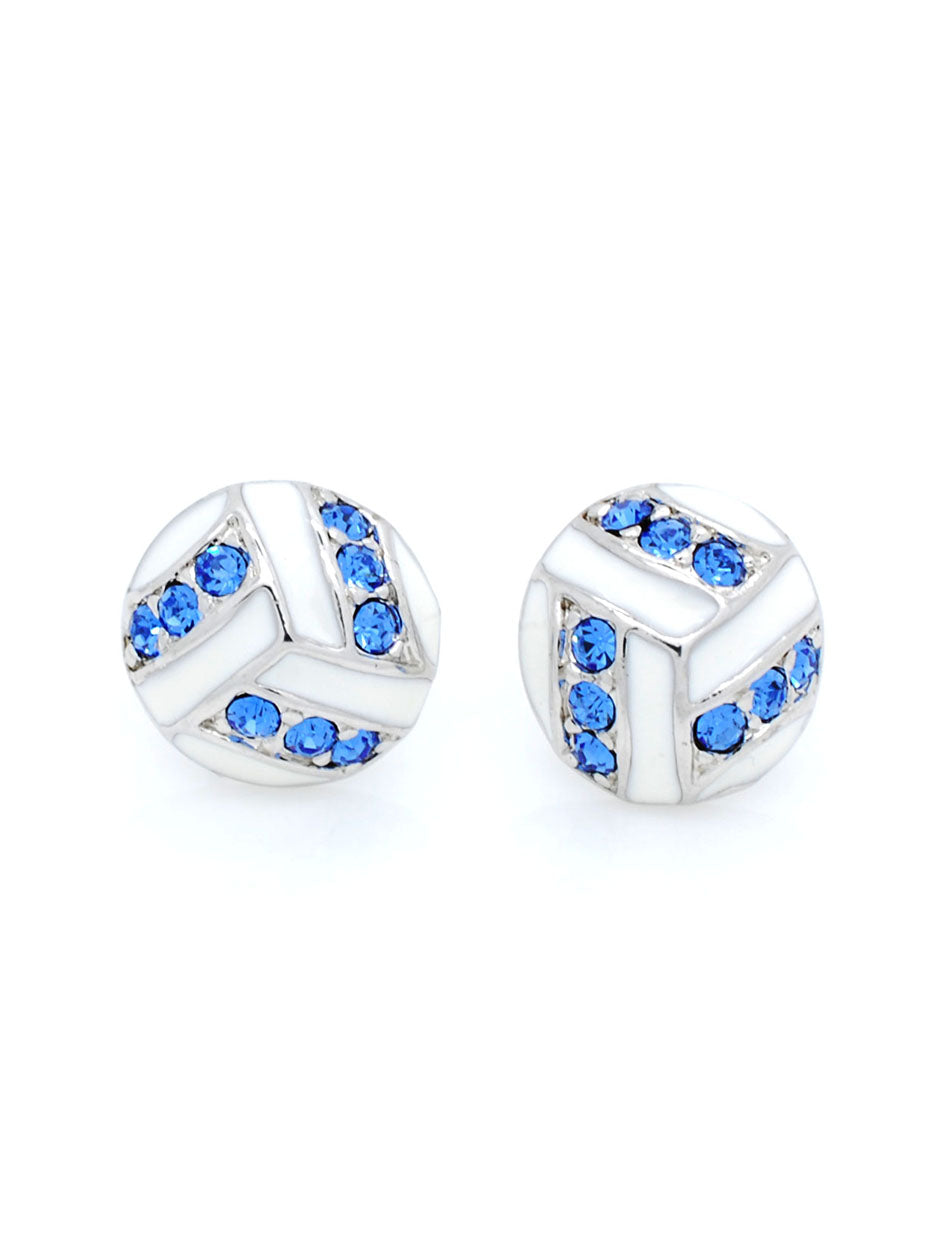 Volleyball Earrings POST - Carolina Blue
