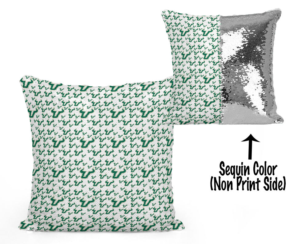USF Sequin Flip Pillow - University of South Florida - Mini Logos Design