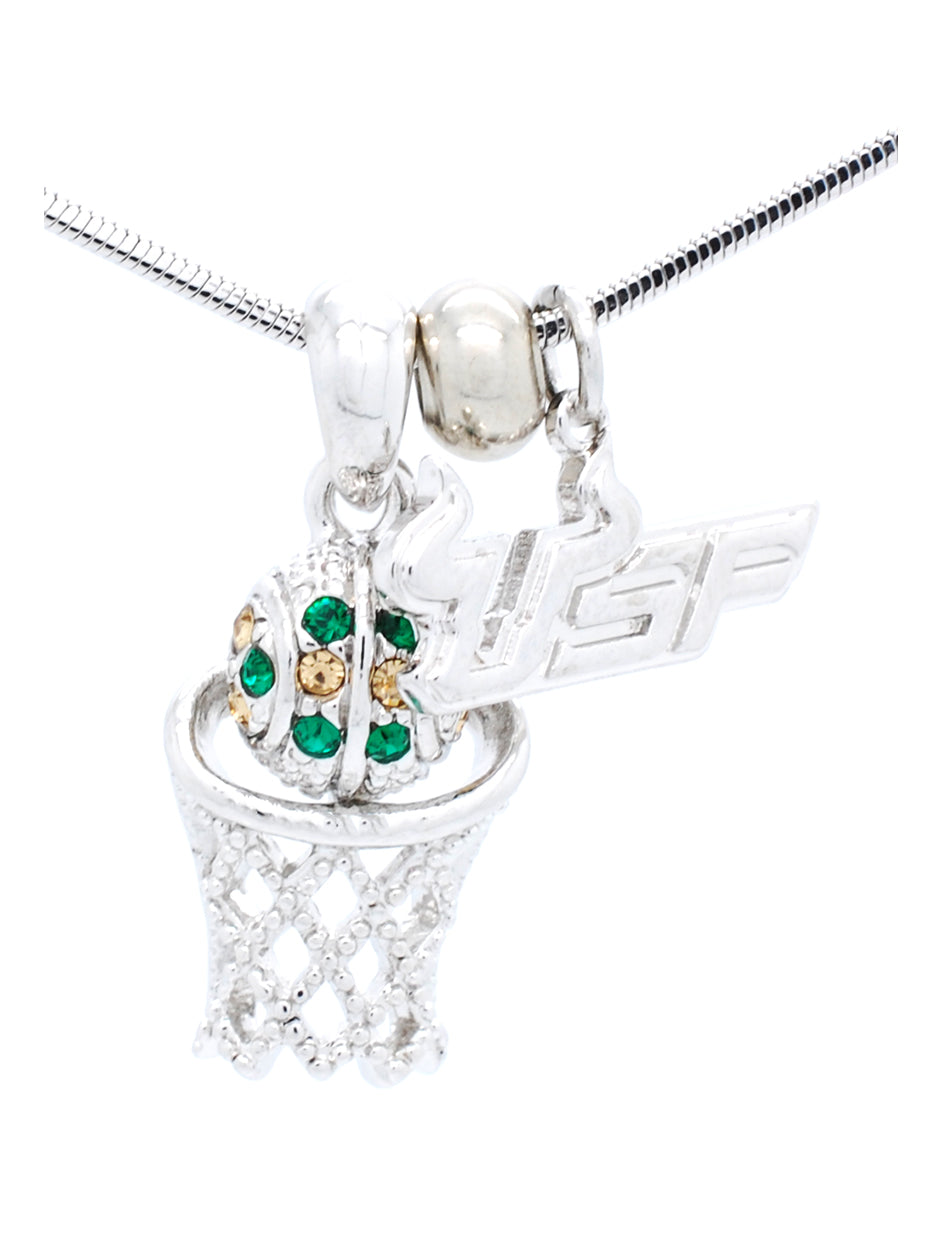 USF Mini Basketball Necklace