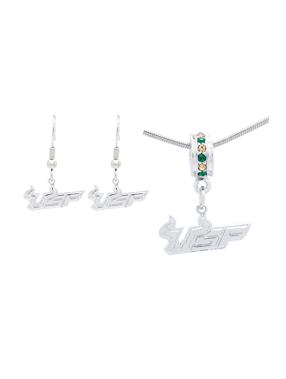 USF Logo Necklace & Earring Set