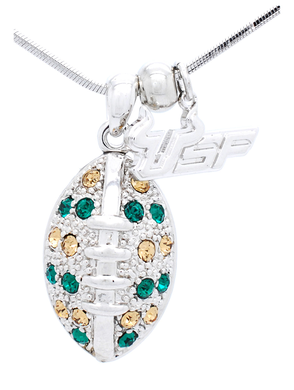USF Large Football Necklace