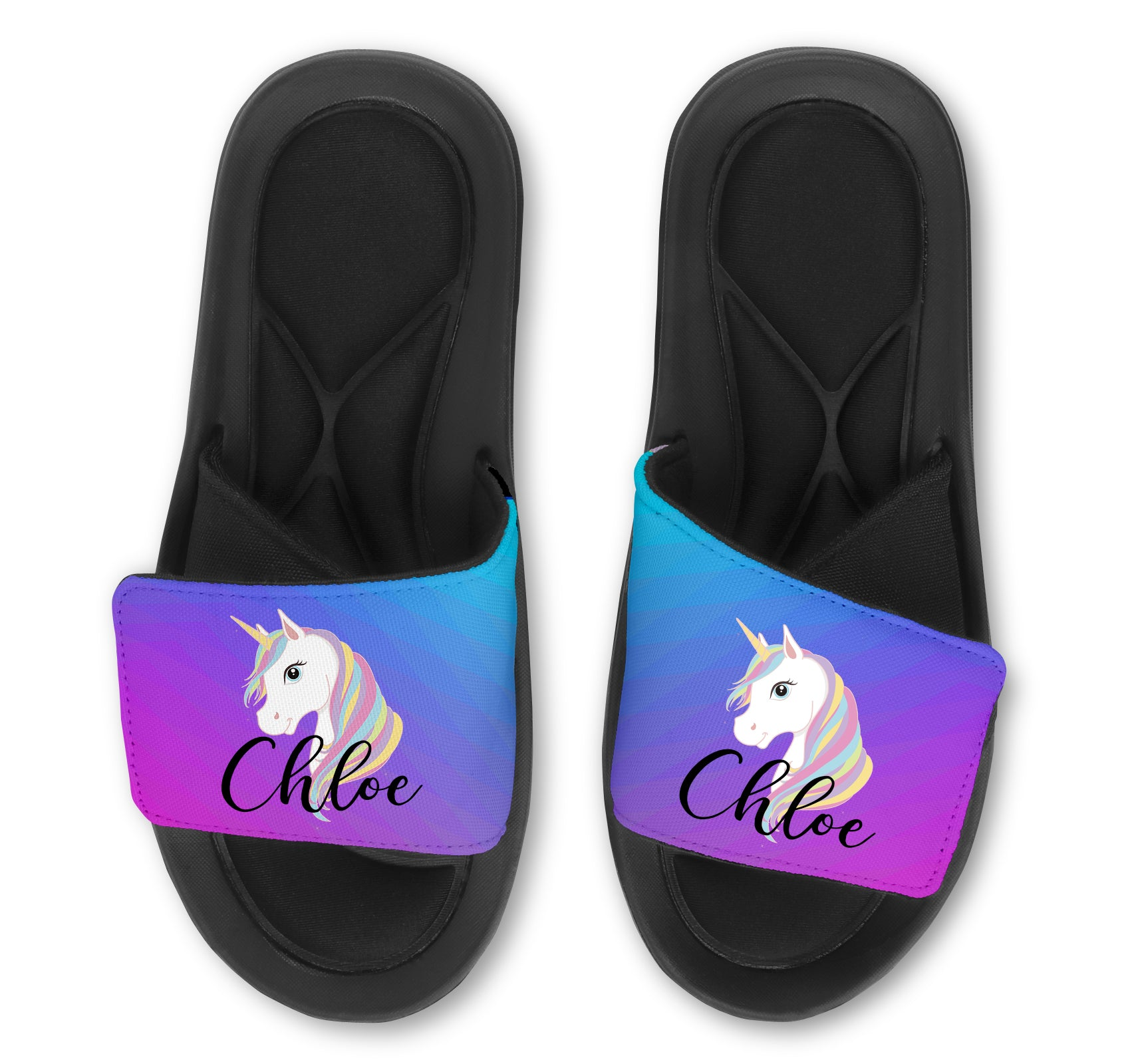 UNICORN Abstract Custom Slides / Sandals - Choose your Background!