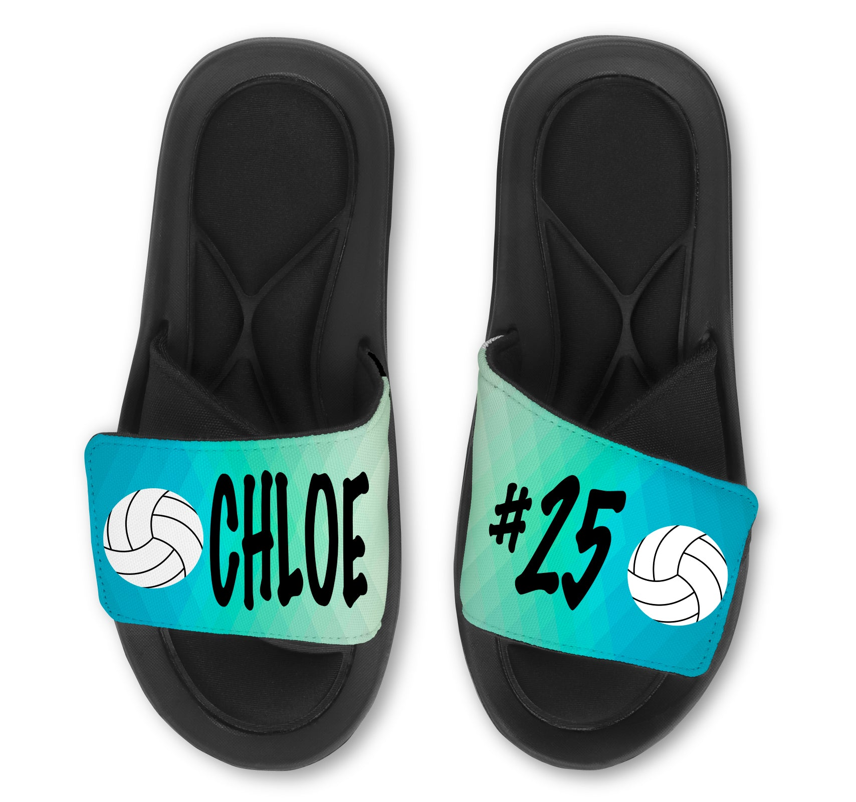 Volleyball Abstract Custom Slides / Sandals - Choose your Background!