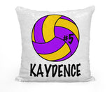 PERSONALIZED VOLLEYBALL MERMAID SEQUIN FLIP PILLOW - CHANGE BALL COLOR!