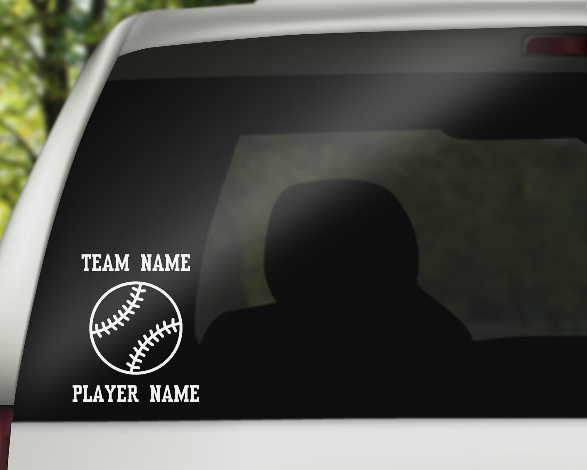Custom Baseball Softball Fastpitch Car Window Decal