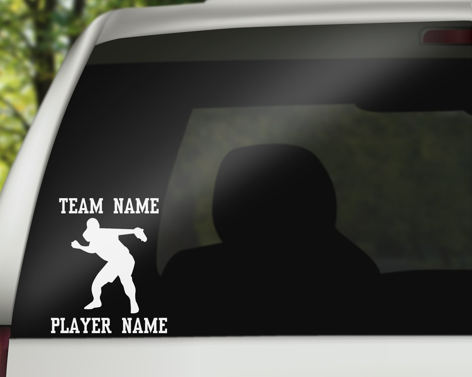 Custom Softball Fastpitch Car Window Decal - Throwing