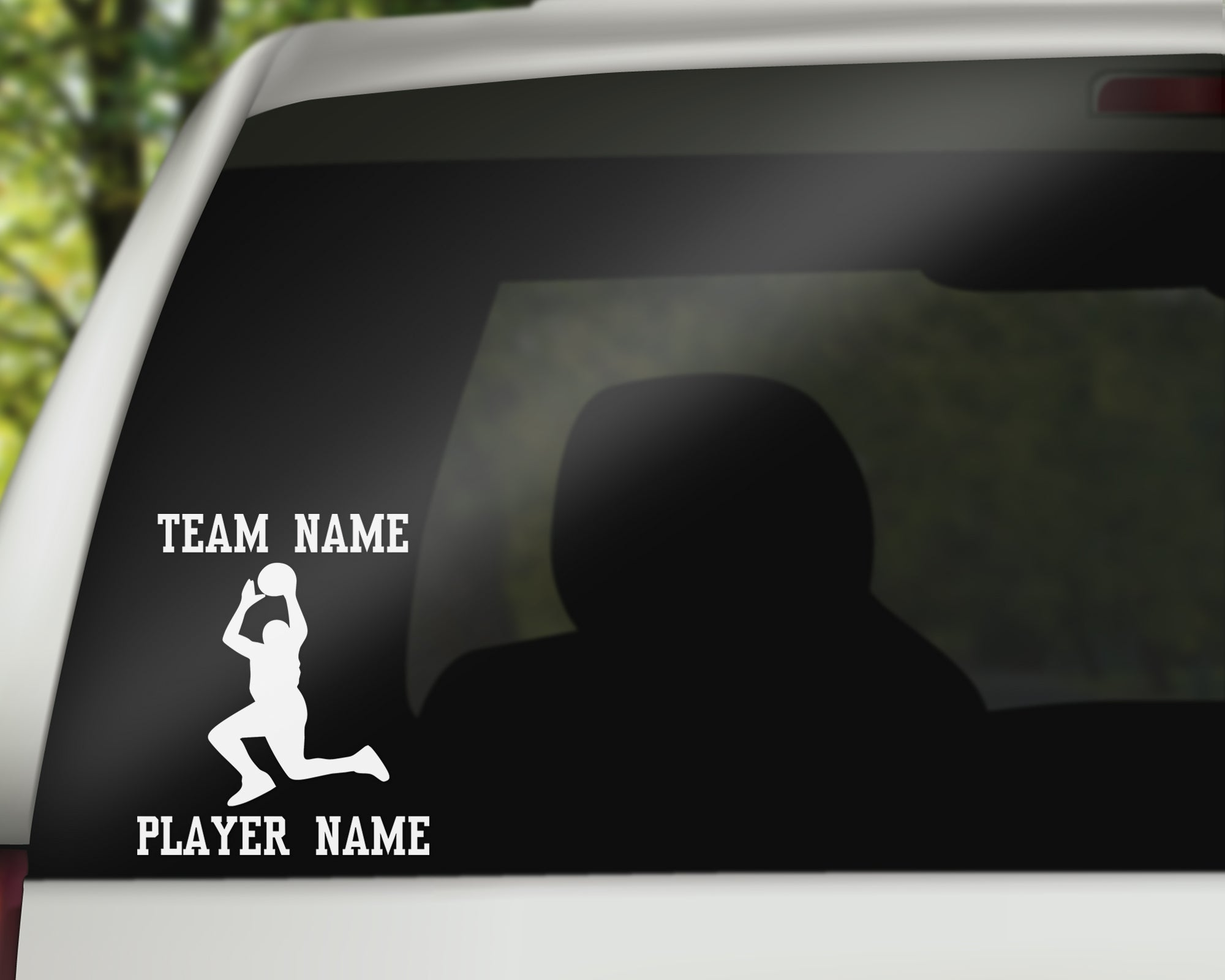 Custom Basketball Car Window Decal
