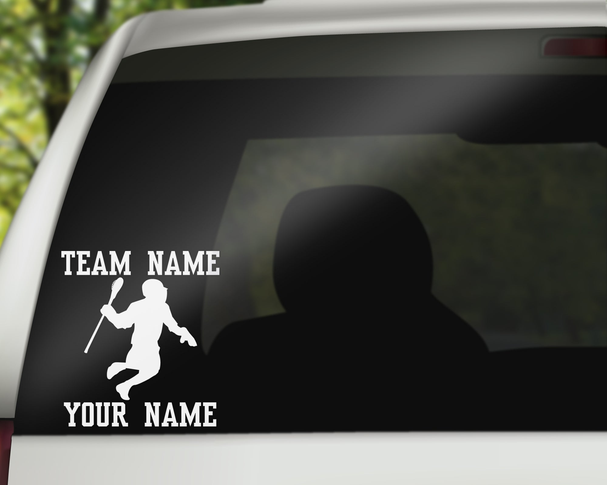 Lacrosse Car Window Decal - Male