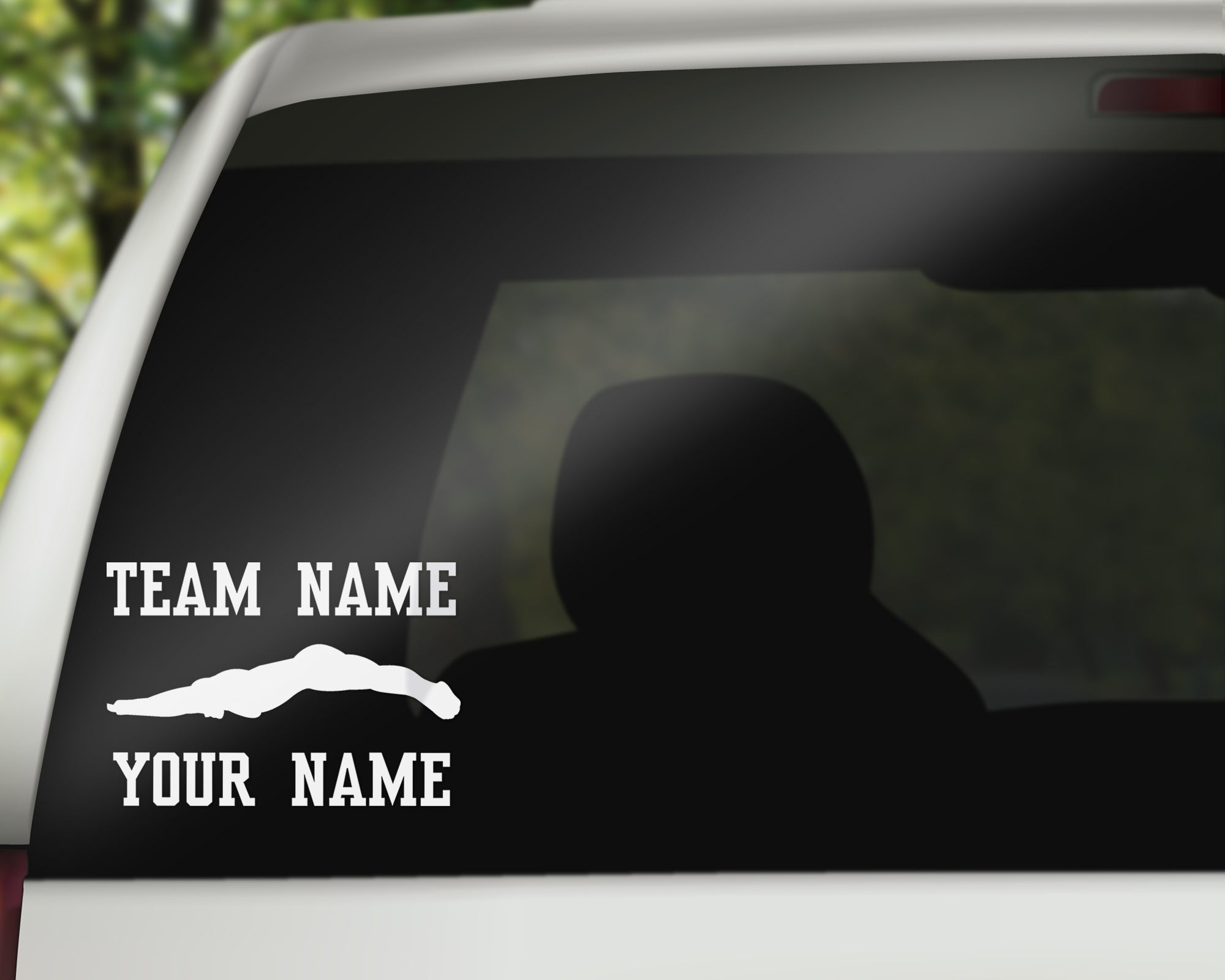 Custom Swimmer Car Window Decal