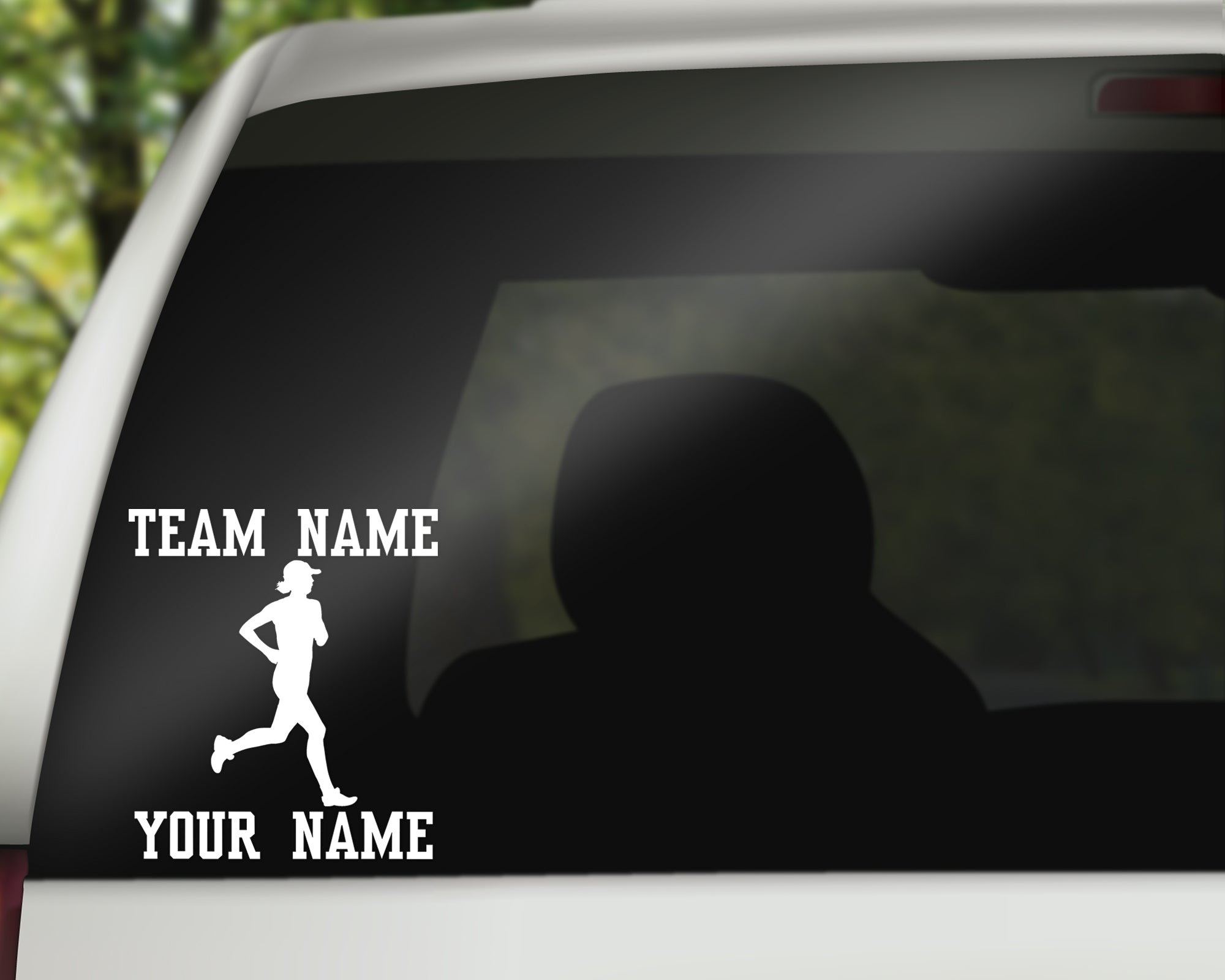 Custom Runner Track Window Decal - Female