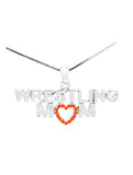 Wrestling Mom Necklace - Orange