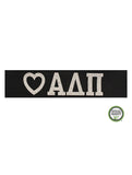 Alpha Delta Pi Headband Love Greek - Black/Silver Sparkle