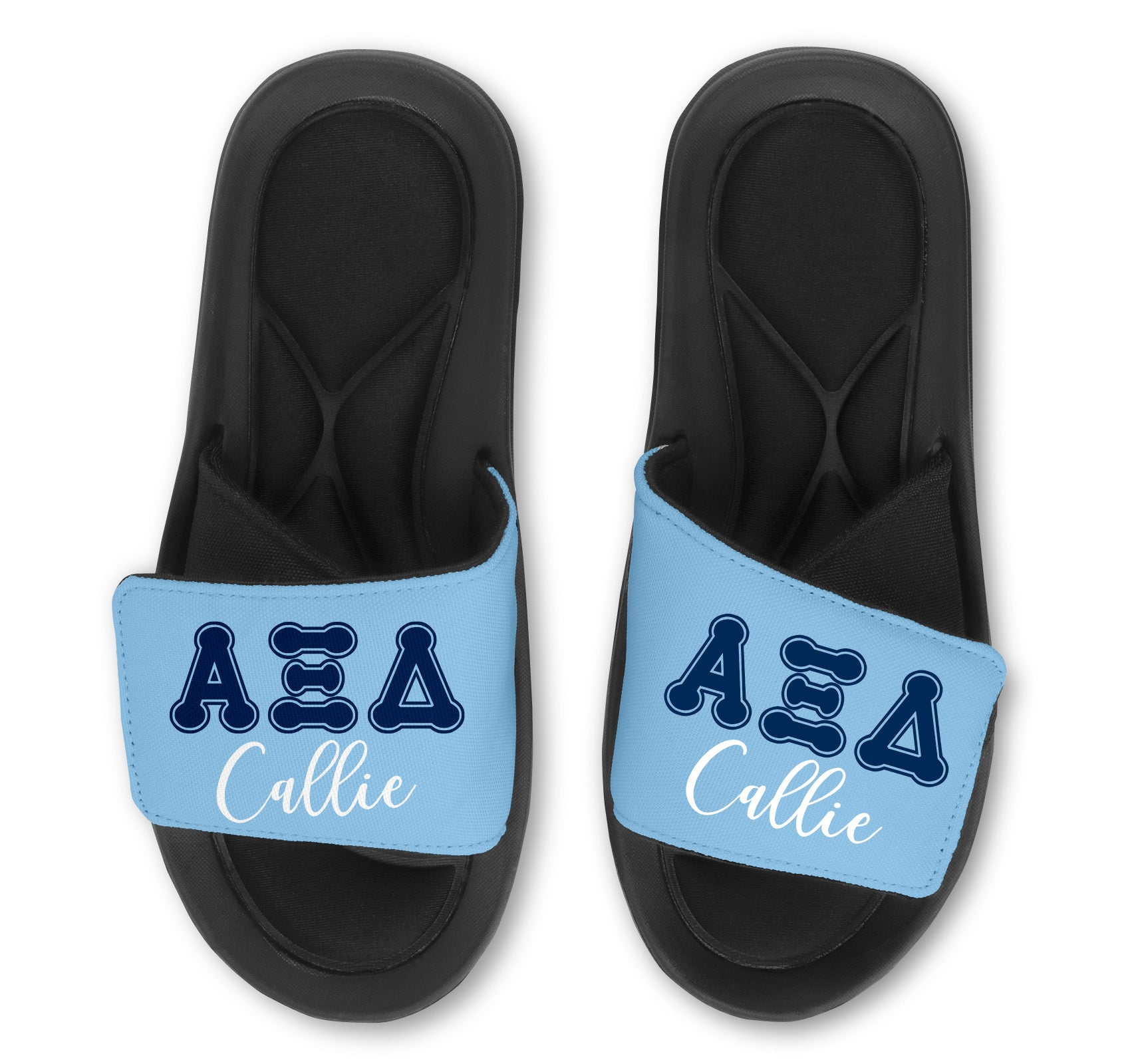 Alpha Xi Delta Slides -Customize With Your Name