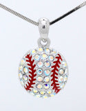 Baseball/Softball Crystal Ball Necklace