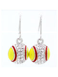 Softball/Fastpitch Enamel Earrings - DANGLE