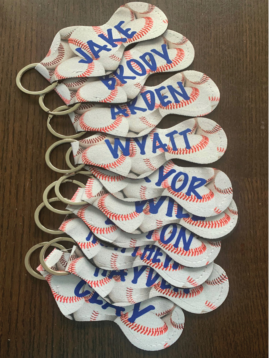 BASEBALL Chapstick Holders - Personalized - Great Team Gift