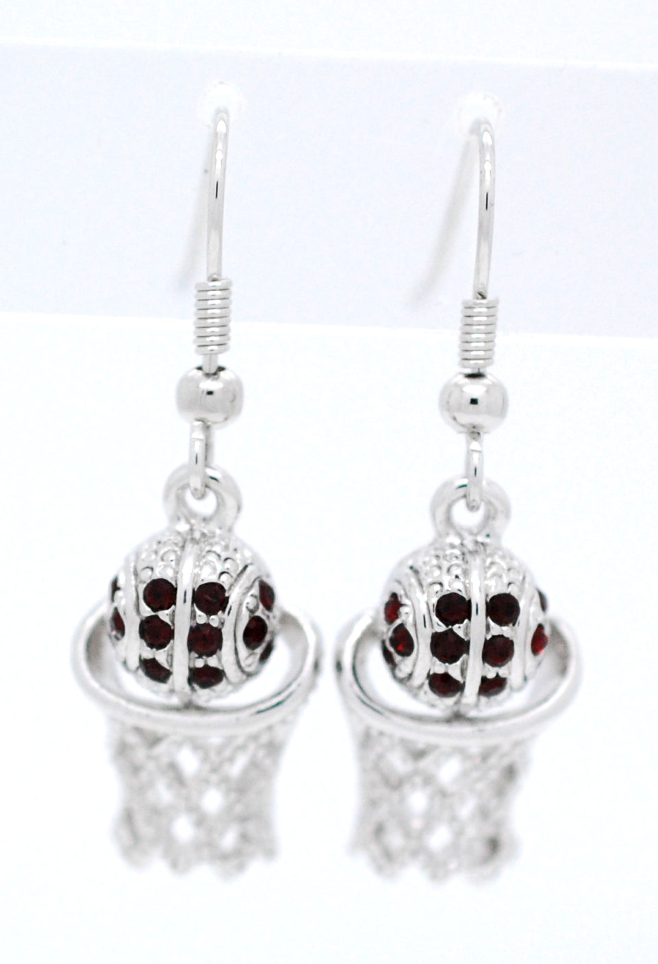 Basketball Hoop DANGLE Earrings