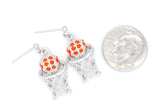 Basketball Hoop POST Earrings - Two Color