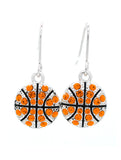 Basketball All Crystal Earrings - DANGLE