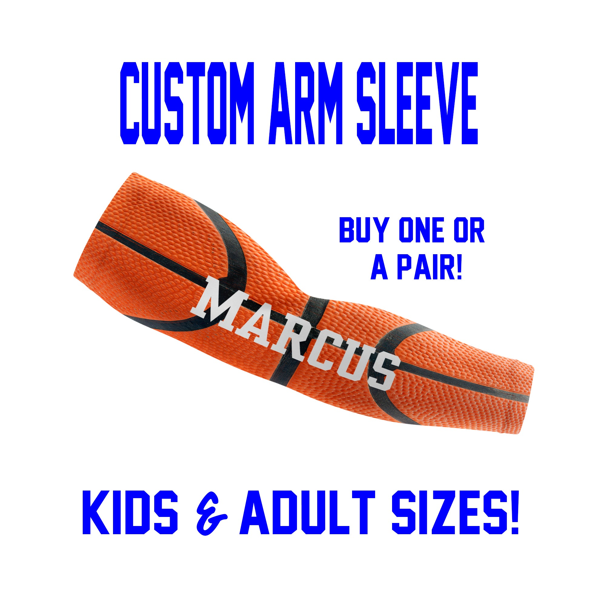 Custom Basketball Arm Sleeves - Real Style Basketball - Single or Pair
