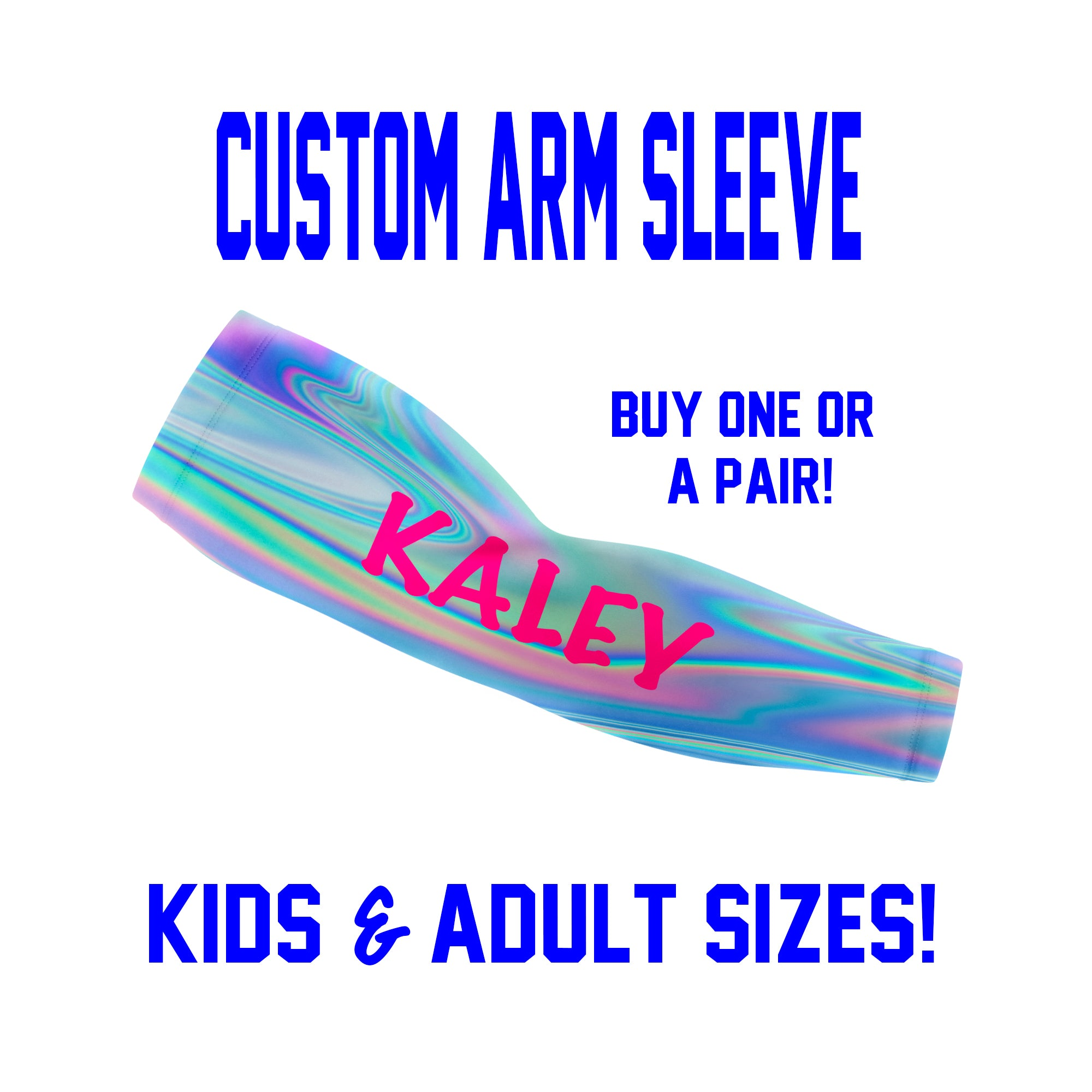 Custom Arm Sleeves Laces - Bubbles Sleeves - Single or Pair