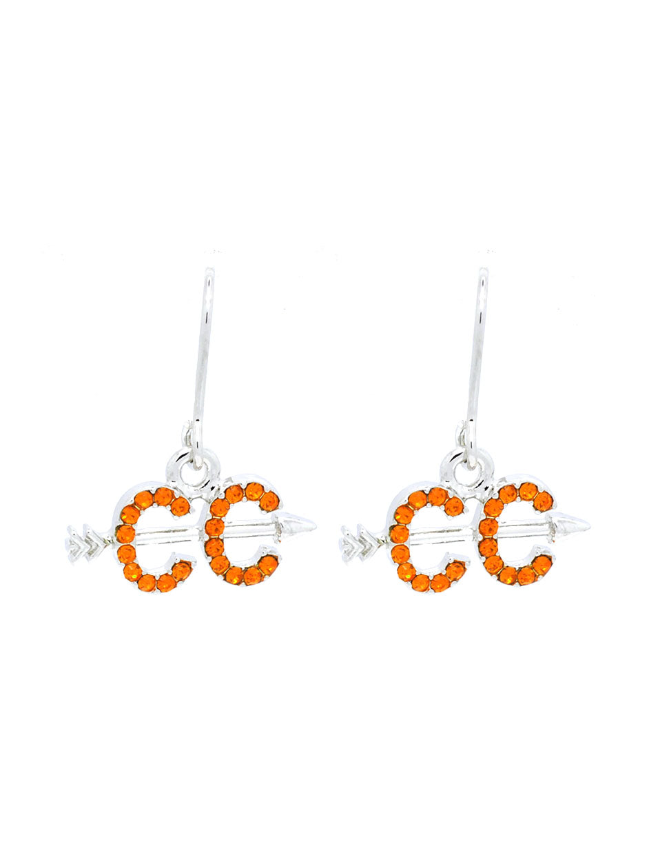 Cross Country Earrings - Dangle - Orange