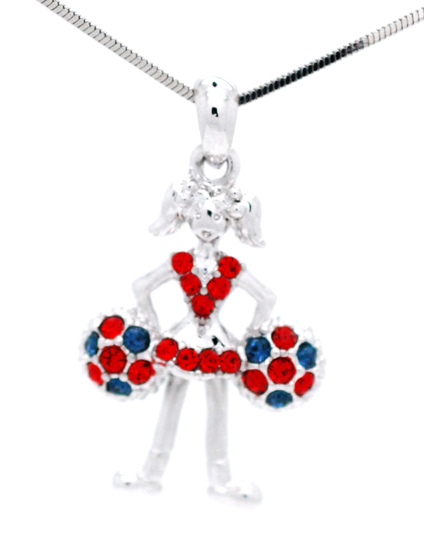 Cheer Necklace - Poms Down - Two Tone