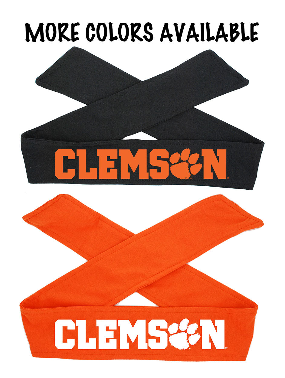 Clemson Tigers Tie Headband - Choose Your Style