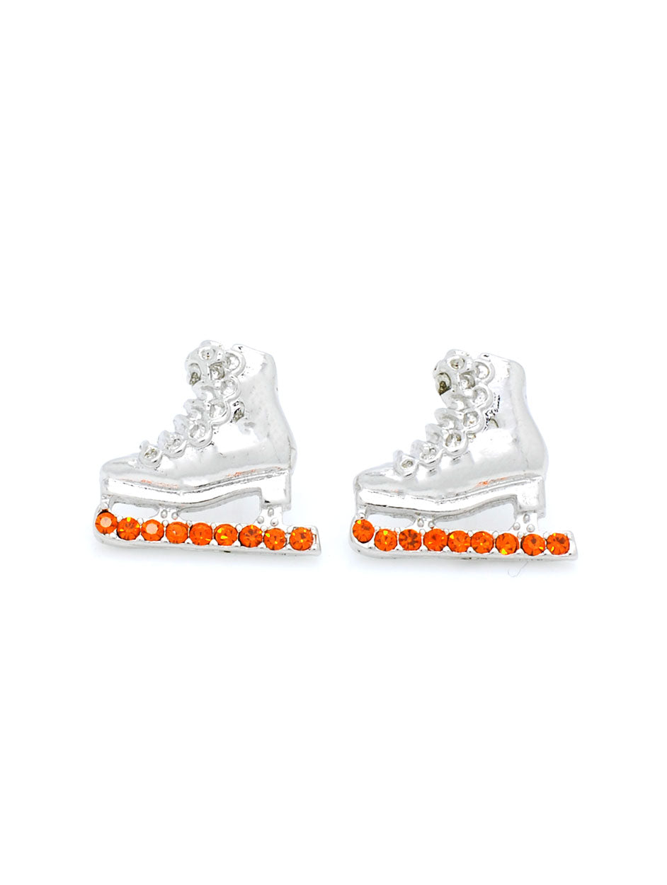 Skate Earrings POST - Orange