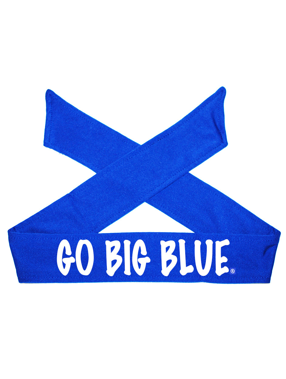 Kentucky UK Go Big Blue Tie Headband - Royal/Flat White