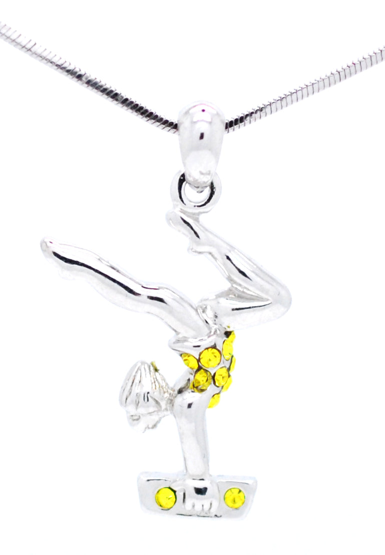 Gymnast Necklace - Beam Stag Pose