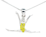 Dancer Gymnast Necklace - Straddle Leaping