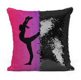 Custom Personalized GYMNAST Sequin Mermaid Flip Pillow