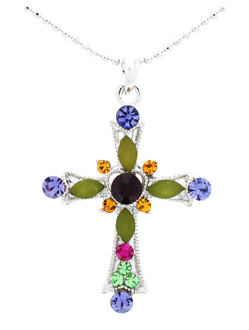 Heart Cross Necklace - Small