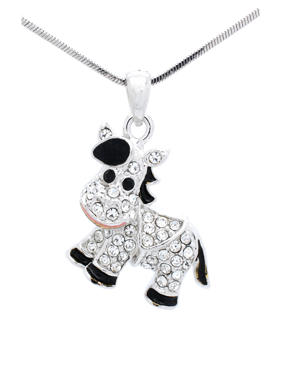 Enamel Horse Necklace