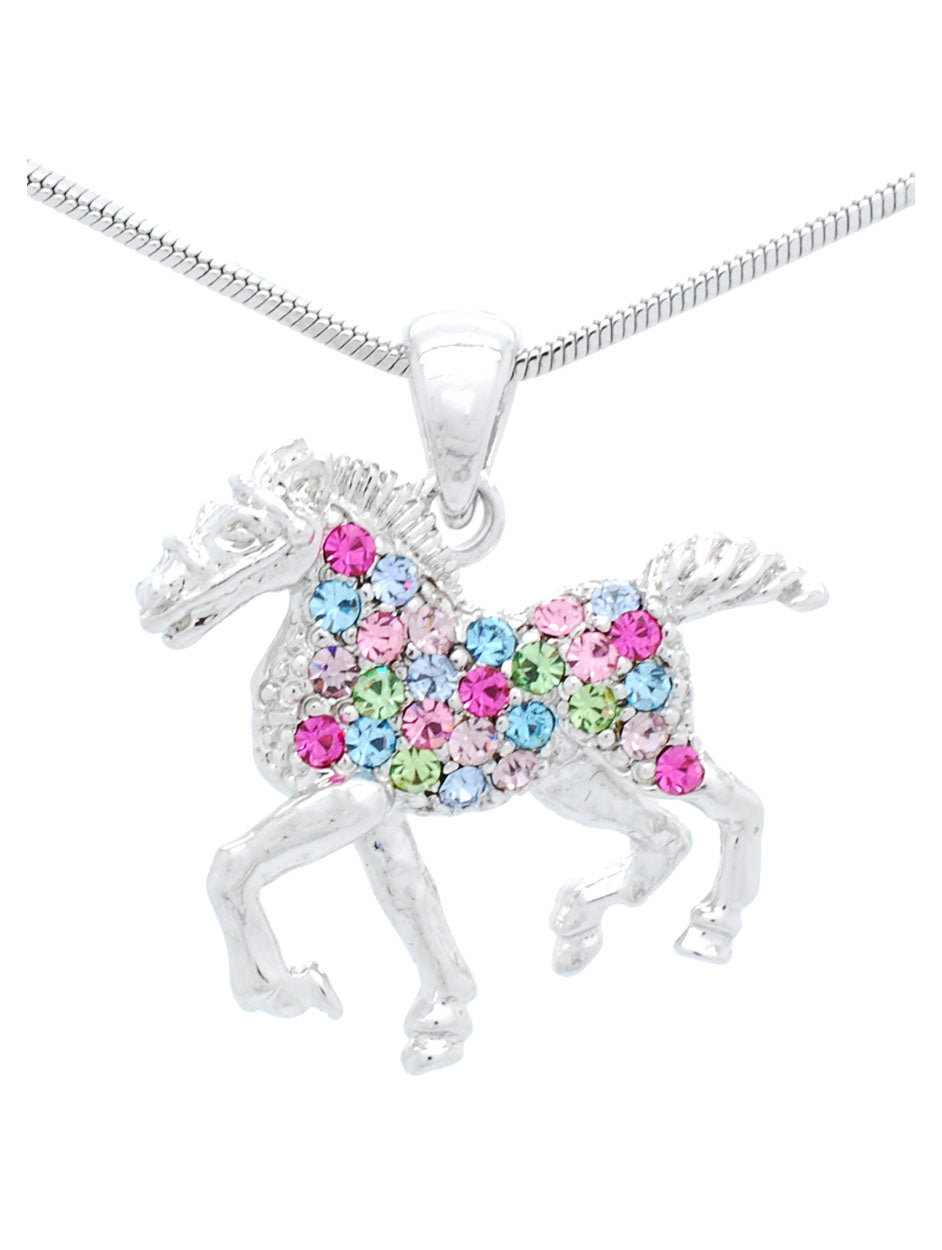 Horse Necklace Trotting