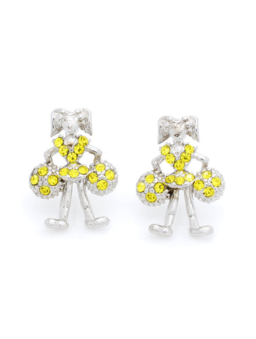Cheer Post Earrings - Yellow