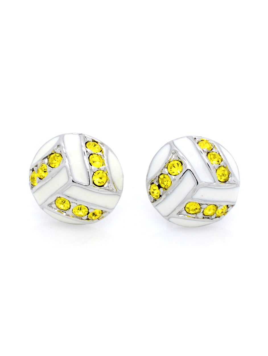 Volleyball Post Earrings - Yellow