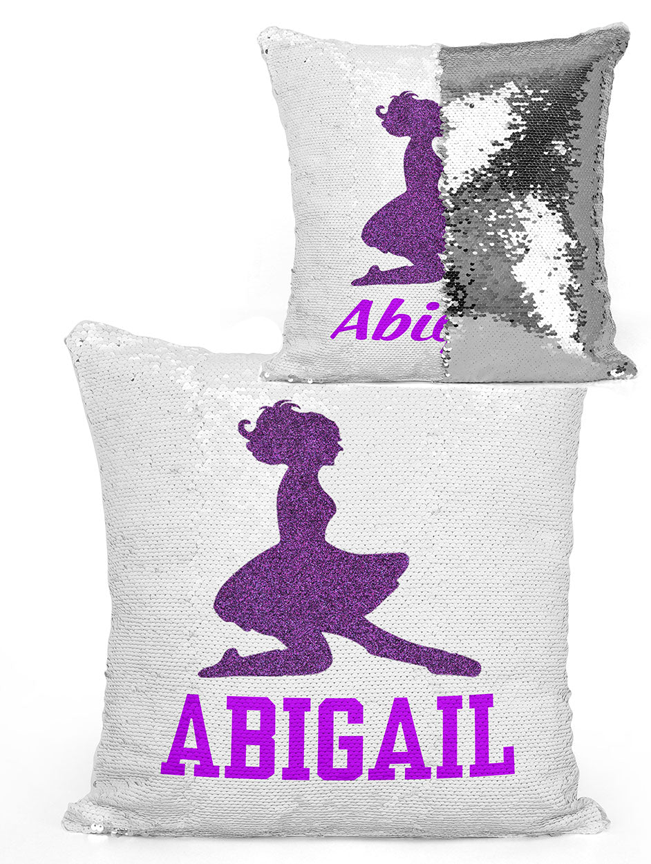 PERSONALIZED IRISH DANCER Mermaid Sequin Flip Pillow