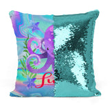 Custom Personalized OCTOPUS Sequin Mermaid Flip Pillow