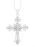Deluxe Lace Cross Necklace - Mini