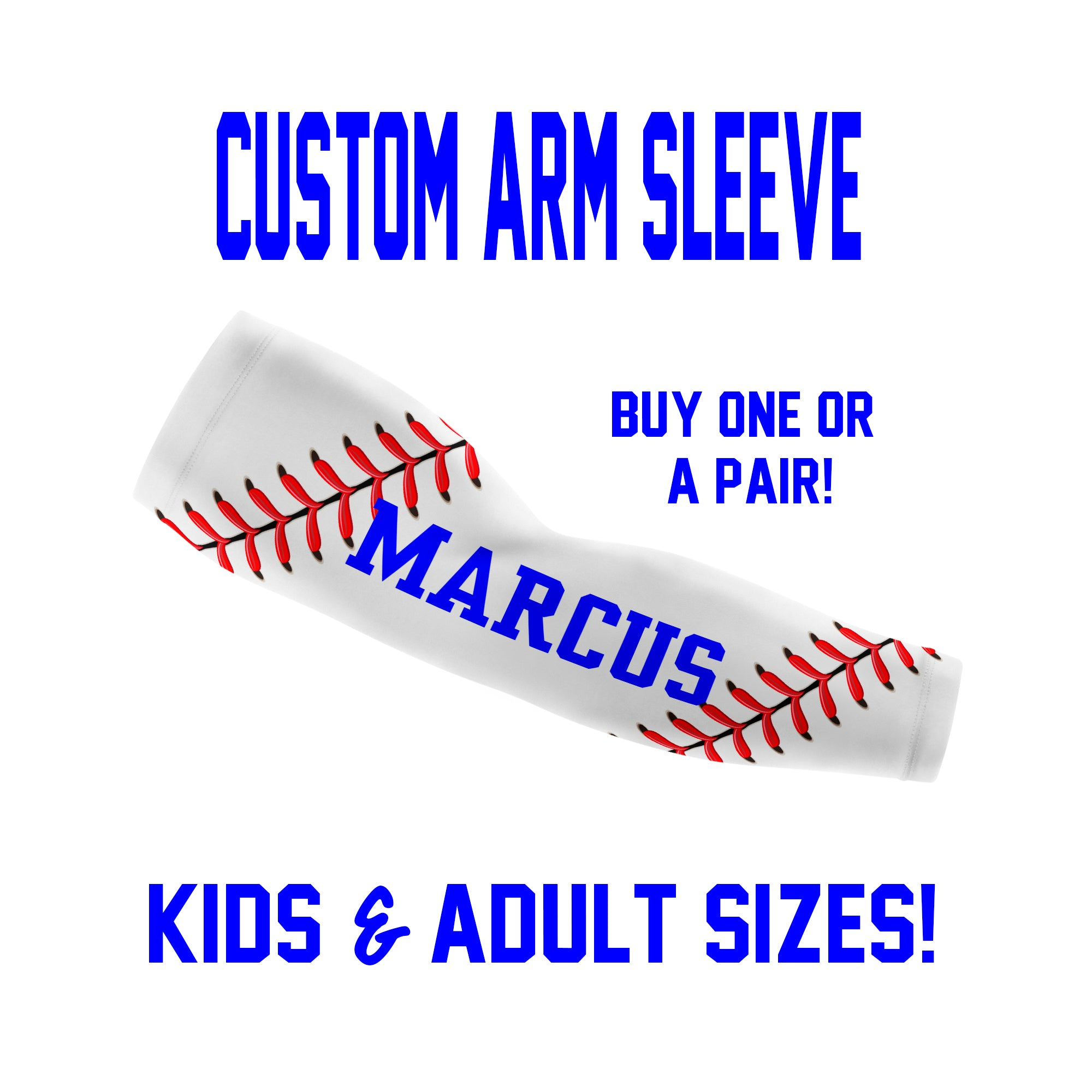 Custom Baseball Arm Sleeves Laces - Single or Pair