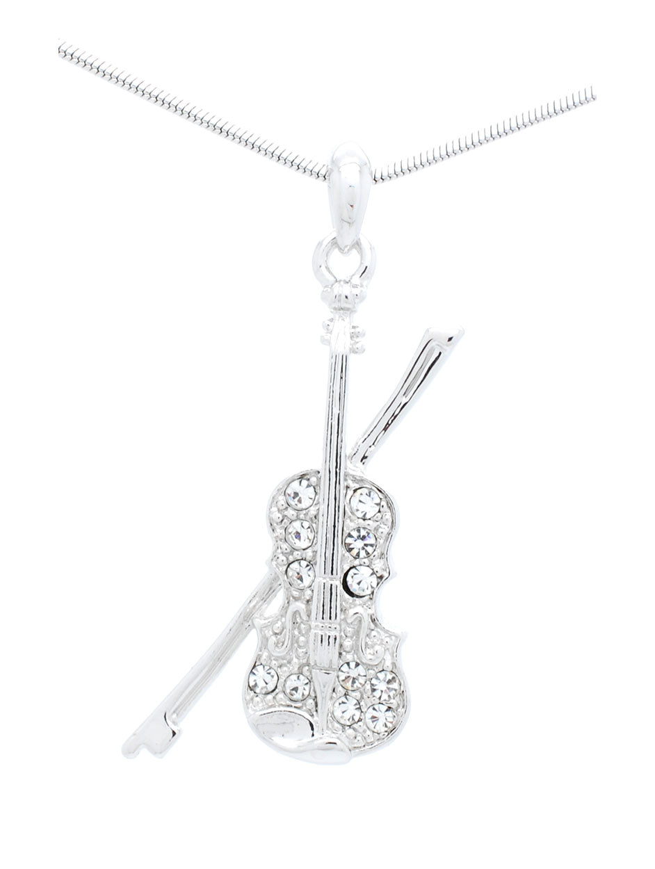 Violin/Viola Necklace with Attached Bow