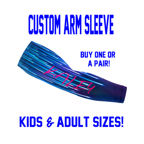 Custom Arm Sleeves Laces - Dripping Sleeves - Single or Pair