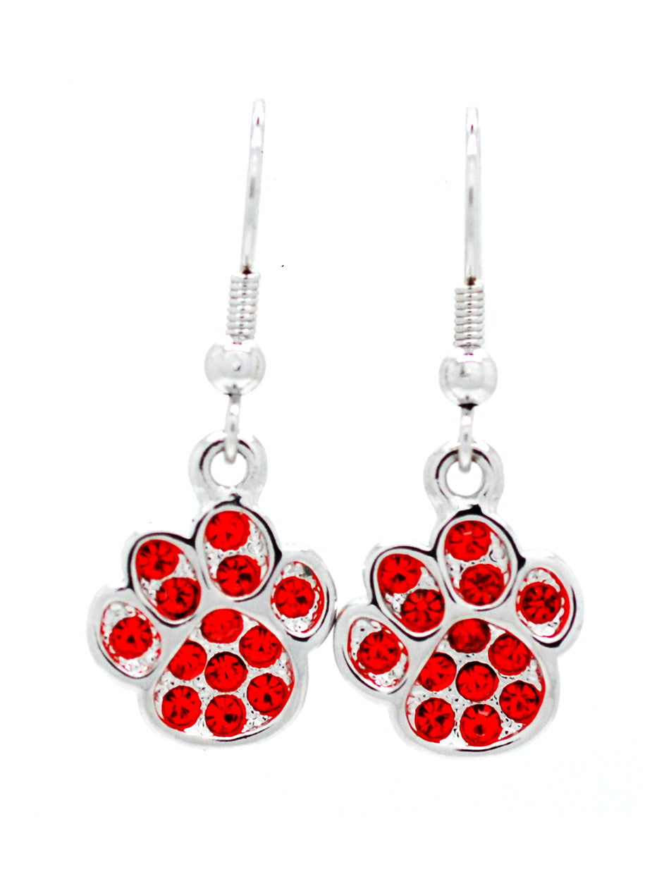 Paw Print Earrings New - DANGLE