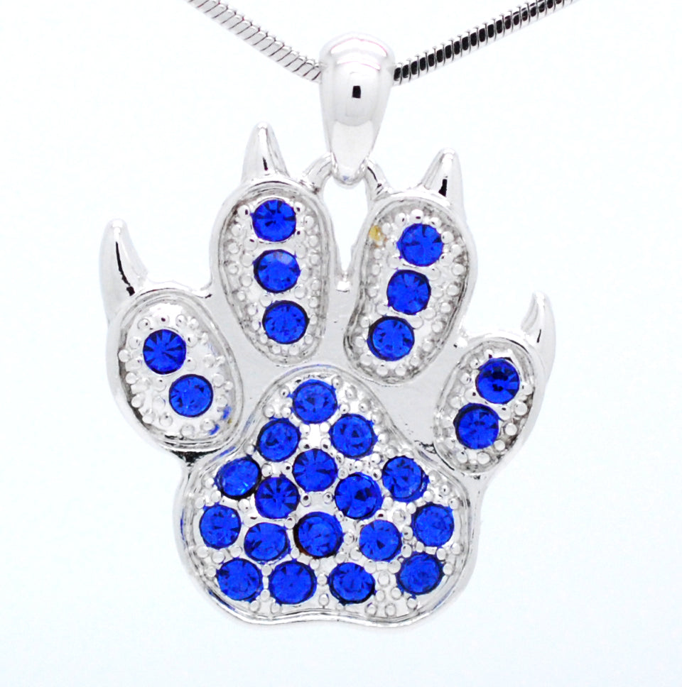 Paw Print Necklace with Claws