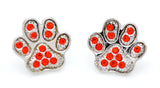 Paw Print Earrings - POST